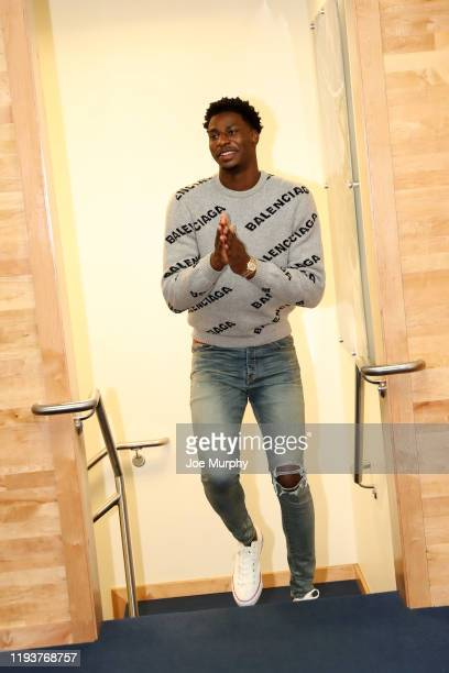 Jaren Jackson Jr #13 of the Memphis Grizzlies arrives to the game against the Houston Rockets on January 14 2020 at FedExForum in Memphis Tennessee...