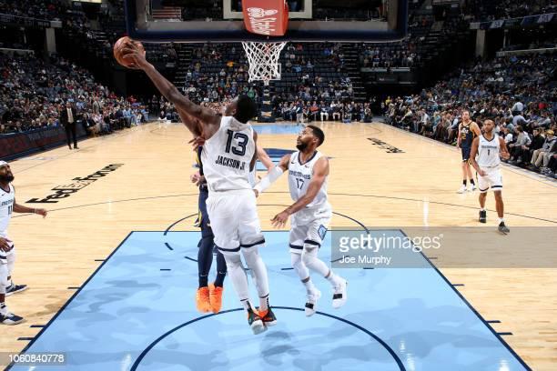 Jaren Jackson Jr #13 of the Memphis Grizzlies blocks a shot against the Utah Jazz on November 12 2018 at FedExForum in Memphis Tennessee NOTE TO USER...