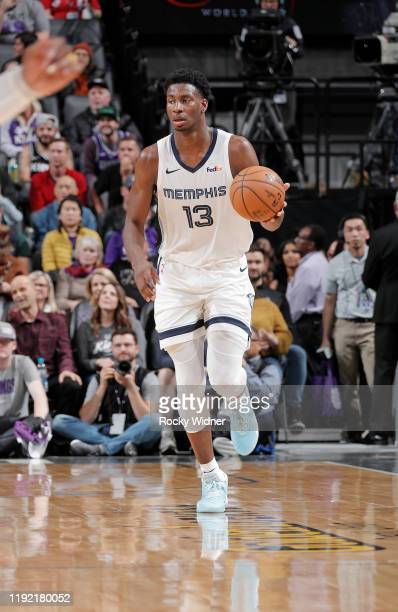 Jaren Jackson Jr #13 of the Memphis Grizzlies brings the ball up the court against the Sacramento Kings on January 2 2020 at Golden 1 Center in...