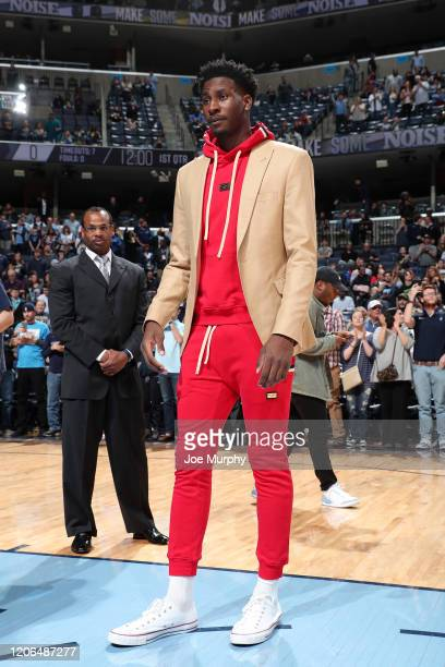 Jaren Jackson Jr #13 of the Memphis Grizzlies looks on before the game against the Orlando Magic on March 10 2020 at FedExForum in Memphis Tennessee...