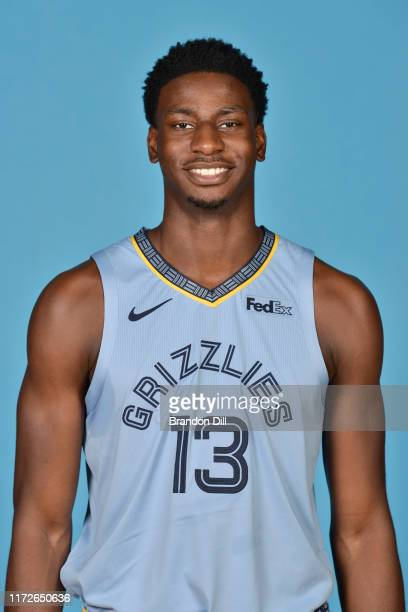 Jaren Jackson Jr #13 of the Memphis Grizzlies poses for a head shot during media day on September 30 2019 at the FedEx Forum in Memphis Tennessee...