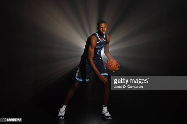 Jaren Jackson Jr #13 of the Memphis Grizzlies poses for a portrait during the 2018 NBA Rookie Photo Shoot on August 12 2018 at the Madison Square...