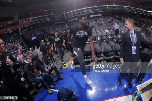 Jaren Jackson Jr #13 of the Memphis Grizzlies runs onto the court prior to the game against the Sacramento Kings on February 20 2020 at Golden 1...
