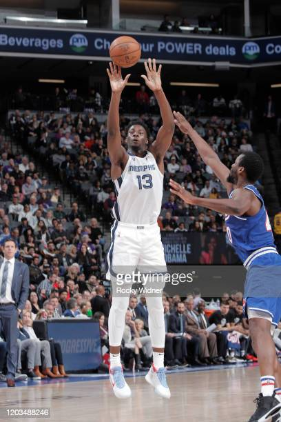 Jaren Jackson Jr #13 of the Memphis Grizzlies shoots against the Sacramento Kings on February 20 2020 at Golden 1 Center in Sacramento California...