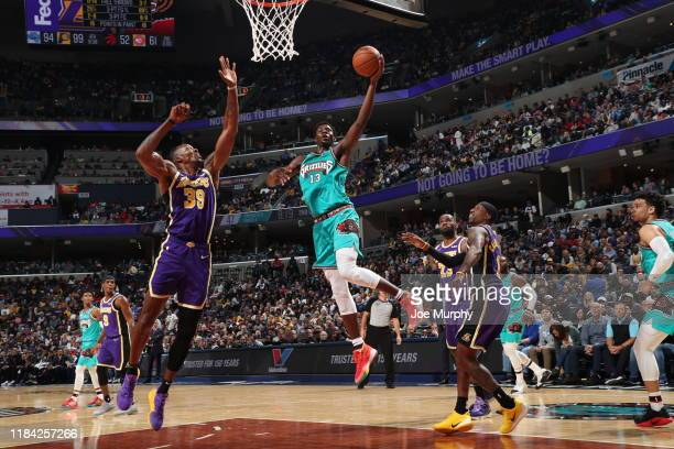Jaren Jackson Jr #13 of the Memphis Grizzlies shoots the ball against the Los Angeles Lakers on November 23 2019 at FedExForum in Memphis Tennessee...