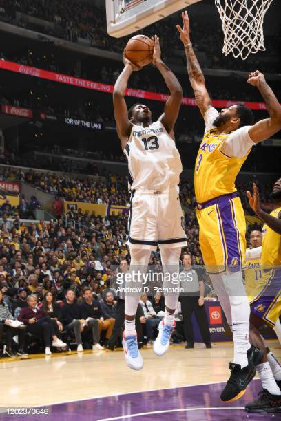Jaren Jackson Jr #13 of the Memphis Grizzlies shoots the ball against the Los Angeles Lakers on February 21 2020 at STAPLES Center in Los Angeles...