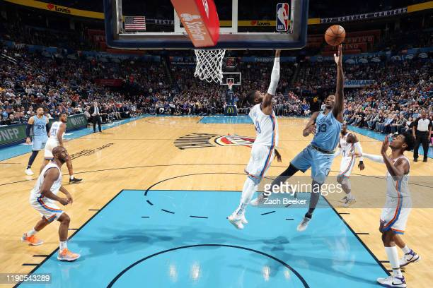 Jaren Jackson Jr #13 of the Memphis Grizzlies shoots the ball during the game against the Oklahoma City Thunder on December 26 2019 at Chesapeake...