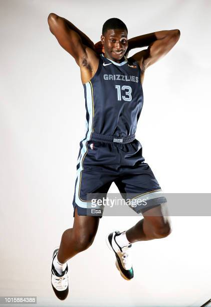 Jaren Jackson Jr of the Memphis Grizzlies poses for a portrait during the 2018 NBA Rookie Photo Shoot at MSG Training Center on August 12 2018 in...