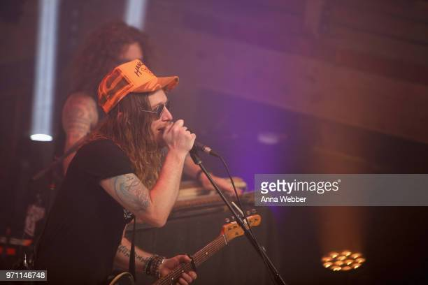 Jaren Johnston of The Cadillac Three performs onstage in the HGTV Lodge at CMA Music Fest on June 10 2018 in Nashville Tennessee