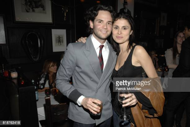 Jaret Keller and Florinka Pesenti attend THE CINEMA SOCIETY hosts the after party of MULTIPLE SARCASMS at The Lion on April 19 2010 in New York City