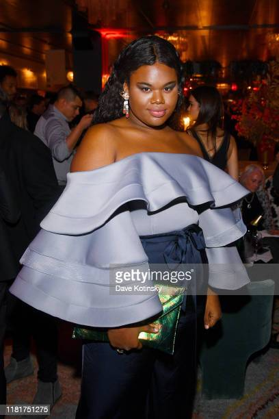 Jari Jones attends Apple's Global Premiere for Dickinson on October 17 2019 in Brooklyn New York Dickinson debuts on Apple TV the first alloriginal...
