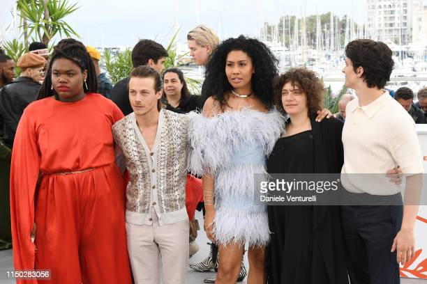 Jari Jones McCaul Lombardi Lenya Bloom Danielle Lessovitz and Fionn Whitehead attend the photocall for Port Authority during the 72nd annual Cannes...