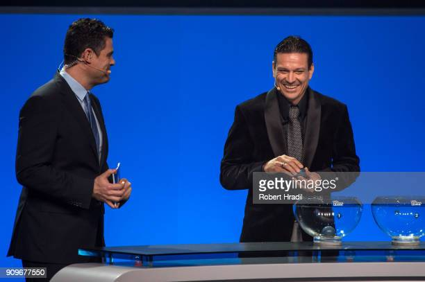 Jari Litmanen Finland former professional football player looks on during the UEFA Nations League Draw 2018 at Swiss Tech Convention Center on...