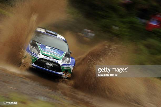 Jari Matti Latvala of Finland and Mikka Anttila of Finland compete in their Ford WRT Ford Fiesta RS WRC during the Shakedown of the WRC Rally...