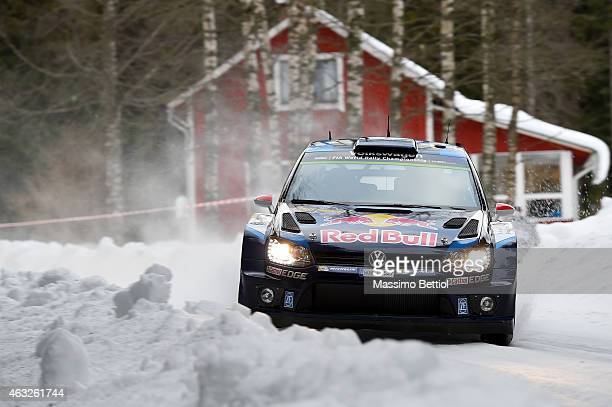 Jari Matti Latvala of Finland and Mikka Anttila of Finland compete in their Volkswagen Motorsport Volkswagen Polo R WRC during the Shakedown of the...