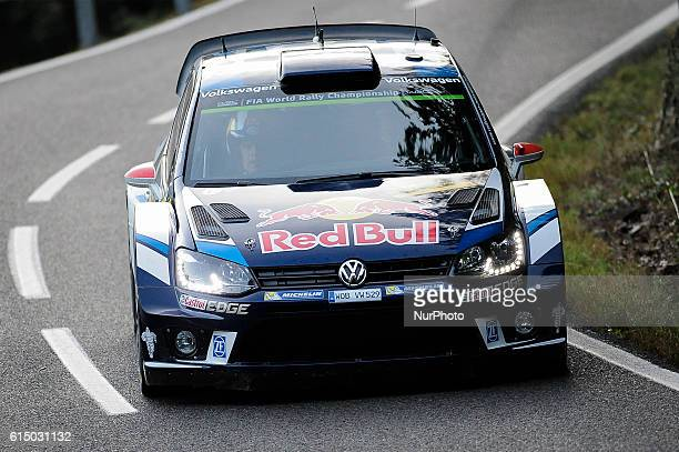 JariMatti Latvala and his codriver Miika Anttila of Volkswagen Motorsport driving their Volkswagen Polo R WRC during the last day of Rally RACC...