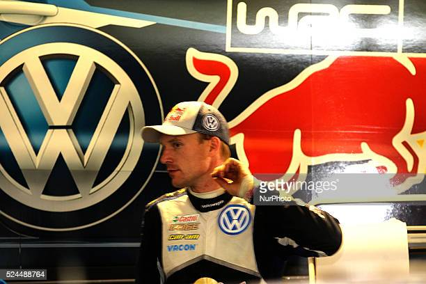 JariMatti Latvala of team Volkswagen Motorsport during the Assistence Park of WRC Vodafone Rally Portugal 2015 at Matosinhos in Portugal on May 23...