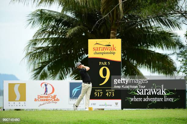 Jarin Todd of the United States in action during the practice round of the Sarawak Championship at Damai Golf and Country Club on July 3 2018 in...