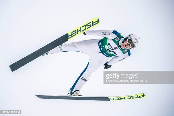 Jarl Magnus Riiber of Norway competes during the Men's Team Sprint HS130/2x7.5 Km at the Viessmann FIS Nordic Combined World Cup Lahti at on January...