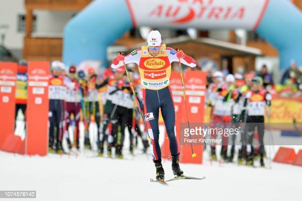 Jarl Magnus Riiber of Norway during the Nordic Combined World Cup at WM Stadion Ramsau on December 22, 2018 in Ramsau, Austria.