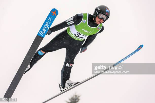 Jarl Magnus Riiber of Norway in action during the FIS Nordic World Cup Nordic Combined HS118/ Ind Gund 10km on January 20 2018 in ChauxNeuve France
