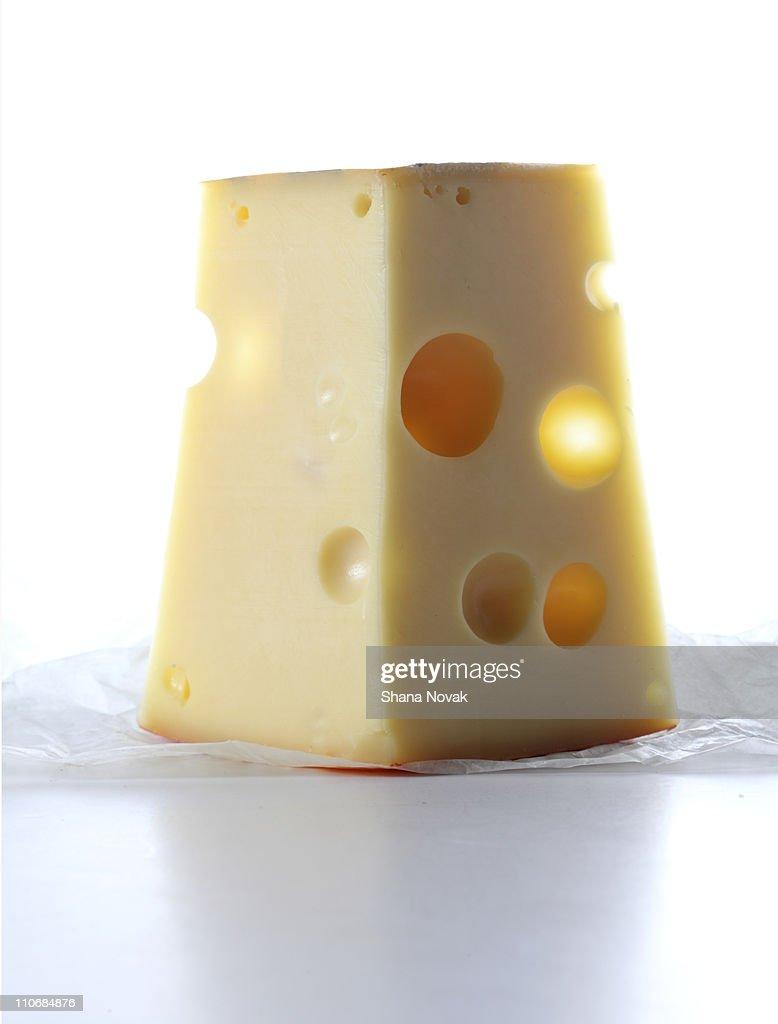 Jarlsberg Cheese Slice : Stock Photo