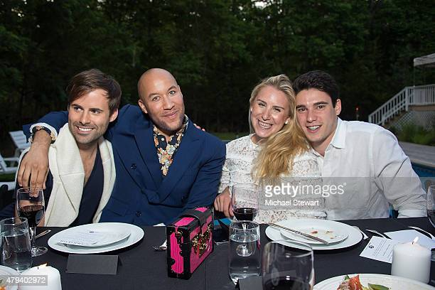 Jarman Rogers, Alex Cook, Jessie Leavitt and Grant Ginsberg attend Devour Hour presented by Carnivor Cabarnet on July 3, 2015 in Sag Harbor, New York.