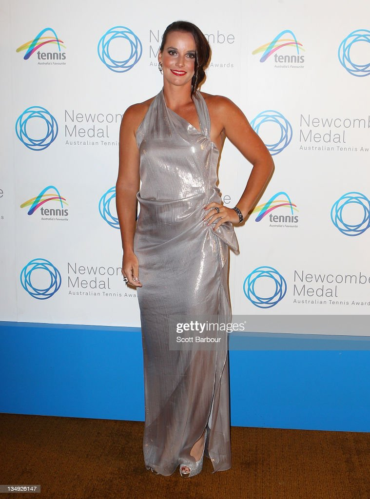 Jarmila Gajdosova arrives at the 2011 Newcombe Medal at Crown Palladium on December 5, 2011 in Melbourne, Australia.