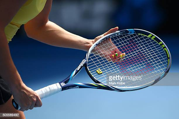 Jarmila Wolfe of Australia prepares to return serve in her first round match against Anastasija Sevastova of Latvia during day two of the 2016...