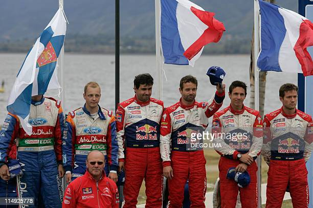 Jarmo Lehtinen and Mikko Hirvonen both from Finland Daniel Elena from Monaco and Frenchmen Sebastien Loeb Julien Ingrassia and Sebastian Ogier and...