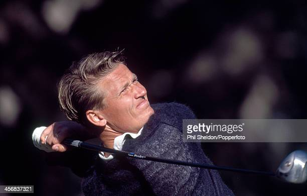 Jarmo Sandelin of Sweden in action during the Hennessy Cognac Cup golf comepetition circa 1999