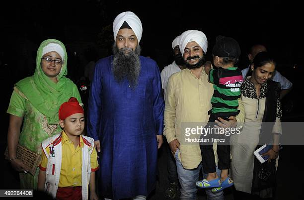 Jarnail Singh, AAP MLA from Tilak Nagar, Jarnail Singh MLA from Rajouri Garden arrive with his family members to attend AAP MLAs and family members...