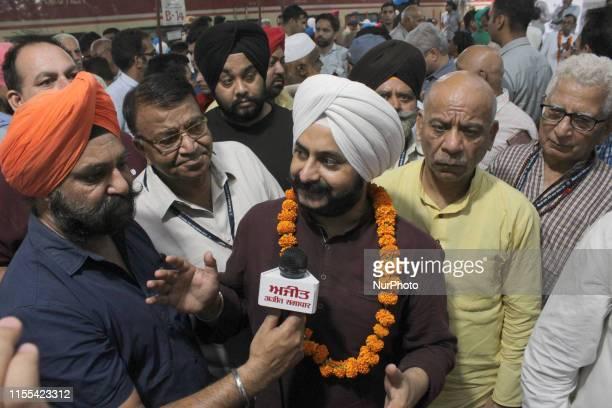 Jarnail Singh interacts with the media before the launch of Mukhyamantri Tirath Yatra Yojana Scheme, at Safdarjung Railway Station on July 12, 2019...