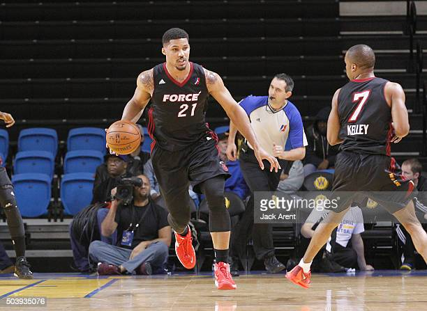 Jarnell Stokes of the Sioux Falls Skyforce dribbles the ball against the Raptors 905 during the 2016 NBA DLeague Showcase presented by SAMSUNG on...