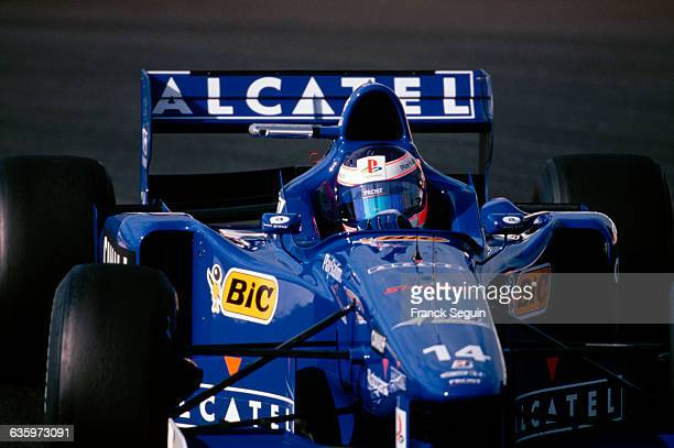 Jarno Trulli drives for the Prost Mugen Honda team at the 1997 French Grand Prix