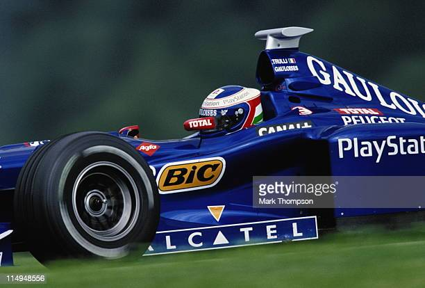 Jarno Trulli drives the Equipe Prost Gauloises Blondes Prost AP01 Peugeot 30 V10 during the Austrian Grand Prix on 26th July 1998 at the A1 Ring in...