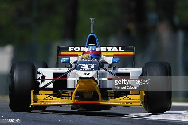 Jarno Trulli drives the Minardi Team SpA Minardi M197 Hart 30 V8 during practice for the San Marino Grand Prix on 26th April 1997 at the Autodromo...