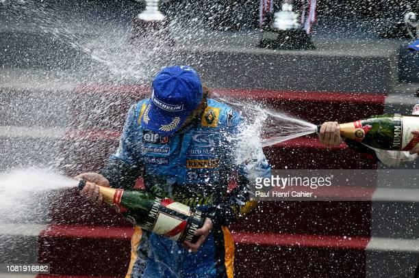 Jarno Trulli Grand Prix of Monaco Circuit de Monaco 23 May 2004 Jarno Trulli celebrating his victory in the 2004 Monaco Grand Prix