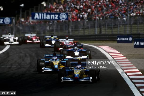 Jarno Trulli Jenson Button Renault R202 Grand Prix of Europe Nurburgring 23 June 2002