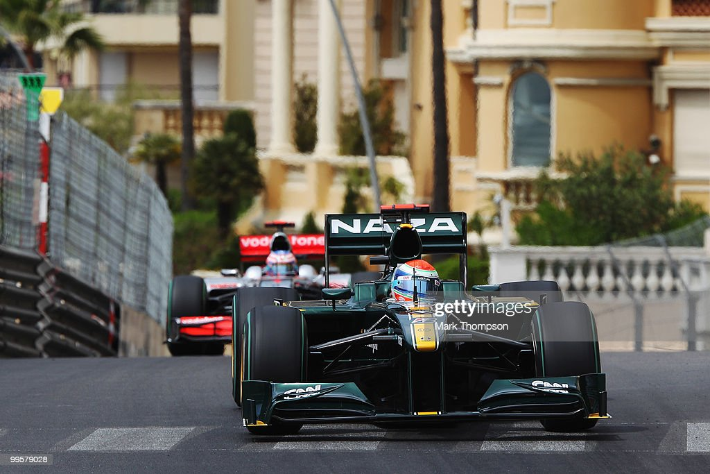 Jarno Trulli of Italy and Lotus drives during qualifying for the Monaco Formula One Grand Prix at the Monte Carlo Circuit on May 15, 2010 in Monte Carlo, Monaco.