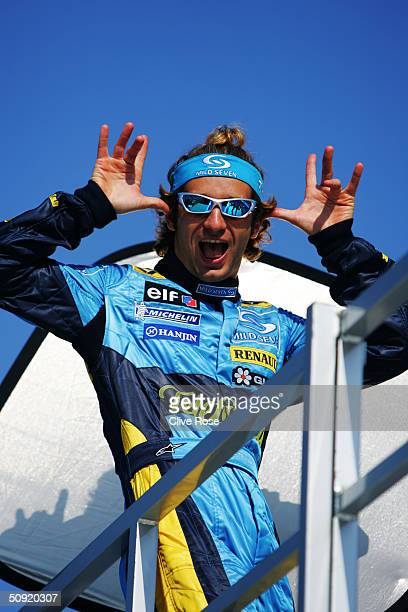 Jarno Trulli of Italy and Renault during preparations for the Monaco F1 Grand Prix on May 19 in Monte Carlo Monaco