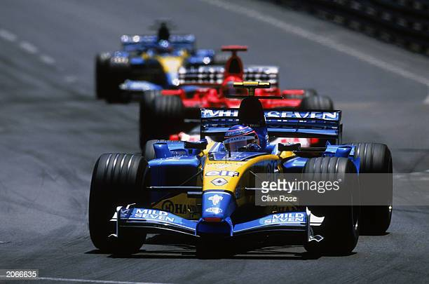 Jarno Trulli of Italy and Renault in action during the Monaco Formula One Grand Prix held on June 1, 2003 in Monte Carlo, Monaco.