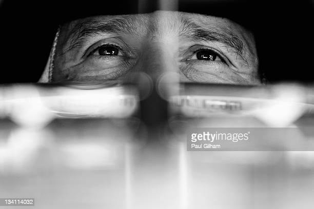 Jarno Trulli of Italy and Team Lotus prepares to drive during the final practice session prior to qualifying for the Brazilian Formula One Grand Prix...