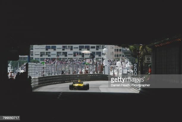Jarno Trulli of Italy drives the Benson Hedges Jordan Honda Jordan EJ11 Honda RA001E V10 out of the Tunnel during the Formula One Monaco Grand Prix...