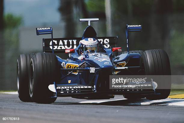 Jarno Trulli of Italy drives the Equipe Prost Gauloises Blondes Prost AP01 Peugeot V10 during practice for the San Marino Grand Prix on 24 April 1998...
