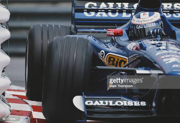 Jarno Trulli of Italy drives the Equipe Prost Gauloises Blondes Prost AP01 Peugeot V10 during practice for the Grand Prix of Monaco on 23 May 1998 on...