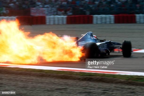 Jarno Trulli ProstMugenHonda JS45 Grand Prix of Italy Autodromo Nazionale Monza Monza Italy September 7 1997 Jarno Trulli just blew his engine in a...