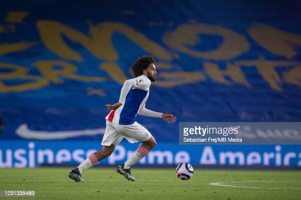 Jaïro Riedewald during the Premier League match between Brighton & Hove Albion and Crystal Palace at American Express Community Stadium on February...