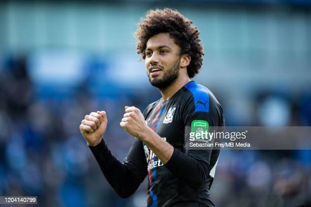 Jaïro Riedewald of Crystal Palace celebrates during the Premier League match between Brighton Hove Albion and Crystal Palace at American Express...