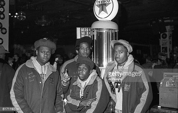 Jarobi Ali Shaheed Muhammad Phife Dawg and QTIp of the hip hop group 'A Tribe Called Quest' pose for a portrait wearing 'Stop The Violence' Jackets...